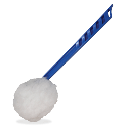 """Impact Products Deluxe Toilet Bowl Mop - 5.75"""" Head - 12"""" Polypropylene Handle - Acid Resistant, Lightweight, Fatigue-free - 100 / Carton - Blue, White"""