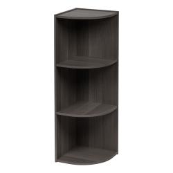 "IRIS 35""H 3-Tier Corner Curved Shelf, Gray"