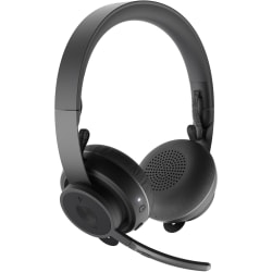 Logitech Zone Wireless Headset - Stereo - Wireless - Bluetooth - 98.4 ft - 30 Hz - 13 kHz - Over-the-head - Binaural - Circumaural - Omni-directional, MEMS Technology, Electret, Condenser, Noise Cancelling Microphone - Noise Canceling