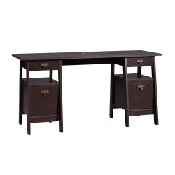 Sauder® Stockbridge Executive Trestle Desk, Jamocha Wood