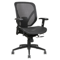 Lorell® Executive Mesh Mid-Back Chair, Black