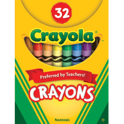Crayola Tuck Box 32 Crayons - Assorted - 32 / Pack
