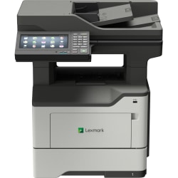 Lexmark MX620 MX622adhe Laser Multifunction Printer - Monochrome - Copier/Fax/Printer/Scanner - 50 ppm Mono Print - 1200 x 1200 dpi Print - Automatic Duplex Print - Upto 175000 Pages Monthly - 650 sheets Input - Monochrome Fax