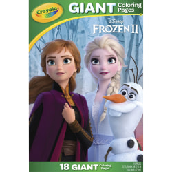 """Crayola Disney's Frozen 2 Giant Coloring Pages - Printed - 19.5"""" x 12.8""""0.2"""" - 1Each"""