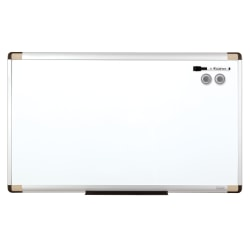 """Quartet® Magentic Dry-Erase Whiteboard, 18"""" x 30"""", Metal Frame With Silver Finish"""