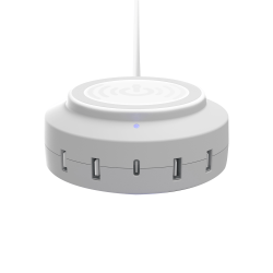 ChargeHub X5 Elite 3005 5-Port USB Charger, White, CRGRD-X5-E3005-002