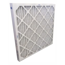 "Tri-Dim Antimicrobial HVAC Pleated Air Filters, Merv 8, 18"" x 24"" x 1"", Case Of 6"