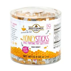 Breitsamer Honig Raw Honey Sticks, 22.6 Oz, Pack Of 80 Sticks