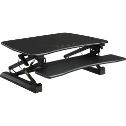 Lorell® V2 Gas-Lift Sit-To-Stand Desk Riser, Black
