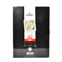 "Canson 180-Degree Hardbound Sketchbook, 8 5/16"" x 11 11/16"", Black"