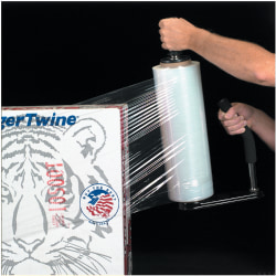 """Office Depot® Brand Blown Hand Stretch Film, 80 Gauge, 12"""" x 1500', Clear , Pack Of 4"""