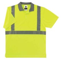 Ergodyne GloWear 8295 Type R Class 2 Polo Shirt, 2X, Lime