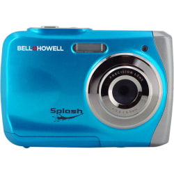 "Bell+Howell Splash WP7 12 Megapixel Compact Camera - Blue - 2.4"" LCD - 8x Digital Zoom - 4032 x 3024 Image - 640 x 480 Video"