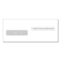 ComplyRight Single-Window Envelopes For 1042-S Tax Forms, Moisture-Seal, White, Pack Of 100 Envelopes