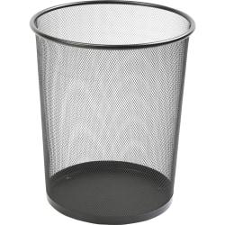 Lorell® Mesh Waste Bin, Round, Black