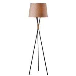 "Kenroy Home Trio Floor Lamp, 58-1/2""H, Bronze Base/Tan Shade"