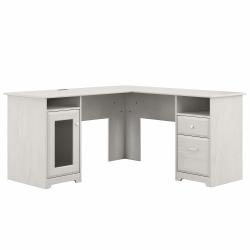 "Bush Furniture Cabot 60""W L-Shaped Computer Desk, Linen White Oak, Standard Delivery"