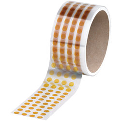 "Kapton® Discs, 3"" Core, 0.25"" x 0.25"", Amber, Case Of 1,000"