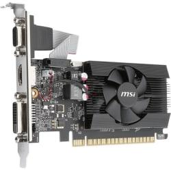 MSI GT 710 2GD3 LP GeForce GT 710 Graphic Card - 2 GB DDR3 SDRAM - Low-profile - 954 MHz Core - 64 bit Bus Width - HDMI - VGA - DVI