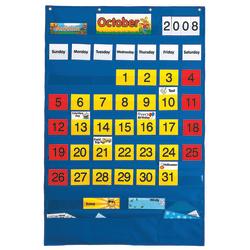 "Playmonster Calendar Pocket Chart, 25 1/2"" x 38 1/4"", Blue, Pre-K - Grade 8"