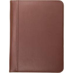 "Samsill Letter Pad Folio - 8 1/2"" x 11"" - Leather - Tan - 1 Each"