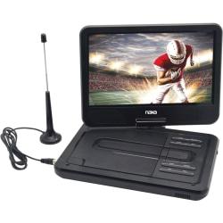 "Naxa NPDT-1000 Portable DVD Player - 10"" Display - Shinny Black - DVD+RW, DVD-RW, CD-RW - JPEG - DVD Video, MPEG-4, MPEG-1, MPEG-2, AVI, MP4 - CD-DA, MP3, WMA - USB - 2.50 Hour"
