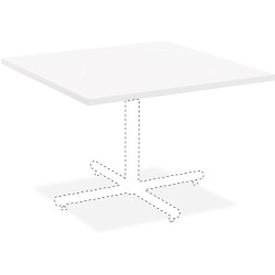 """Lorell® Hospitality Square Table Top, 42""""W, White"""