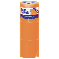 """BOX Packaging Solid Vinyl Safety Tape, 3"""" Core, 4"""" x 36 Yd., Orange, Case Of 3"""