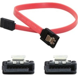 AddOn 46cm (1.5ft) SATA Female to Female Red Serial Cable