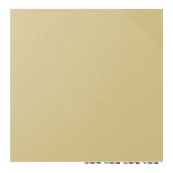 """Ghent Aria Magnetic Dry-Erase White Board, Glass, 48"""" x 48"""", Beige"""