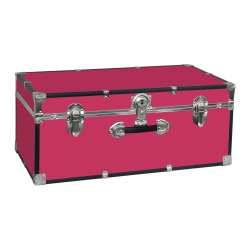 "Advantus Stackable Footlocker Trunk, 15-3/4"" x 30"" x 12"", Pink"