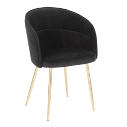 LumiSource Lindsey Chair, Black/Gold