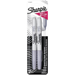 Sharpie® Metallic Markers, Silver, Pack Of 2 Markers