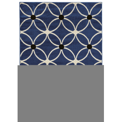 """Linon Honora Area Rug, 24""""H x 36""""W, Lione Blue/Ivory"""