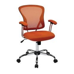 Office Star™ Avenue Six Juliana Mesh Task Chair, Orange/Silver