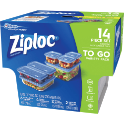 Ziploc® Food Storage Container Set - Food Container - Clear - 42 Piece(s) / Carton