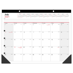 "Office Depot® Brand Monthly Academic Desk Calendar, 22"" x 17"", 30% Recycled, July 2021 to June 2022, ODUS2033-002"