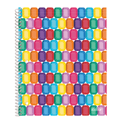 "Office Depot® Brand Stellar Poly Notebook, 8"" x 10-1/2"", 1 Subject, Wide Ruled, 160 Pages (80 Sheets), Gems"