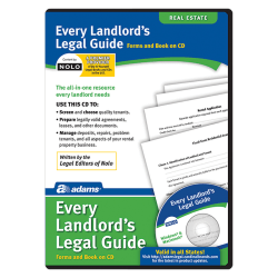 Adams® Every Landlord's Legal Guide, For PC/Mac®, Disc