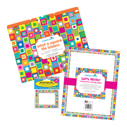 Barker Creek Get Organized Kit, Letter Size, What A Square