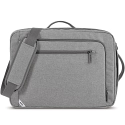"""Solo Hybrid Carrying Case (Backpack/Briefcase) for 15.6"""" Notebook - Gray - Bump Resistant, Damage Resistant - Mesh Pocket - Shoulder Strap, Luggage Strap, Handle - 12"""" Height x 17"""" Width x 4"""" Depth - 1 Pack"""