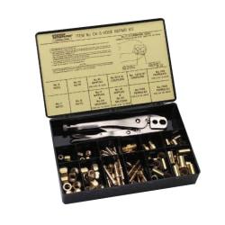 Hose Repair Kits, Full color label & description chart; Fittings; Crimping Tool