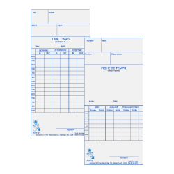 """Acroprint Weekly/Bi-Weekly Time Cards For Acroprint ATR120 Electronic Time Clock, 2-Sided, 10"""" x 4"""", Beige, Pack Of 250"""