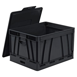 """Storex® Collapsible Storage File Storage Crate, Letter/Legal Size, 14 5/8"""" x 17 5/8"""" x 10 1/2"""", Black"""