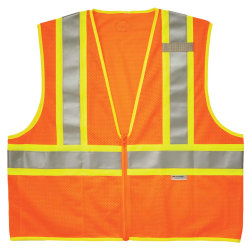 Ergodyne GloWear® Safety Vest, 2-Tone 8230Z, Type R Class 2, 2X/3X, Orange