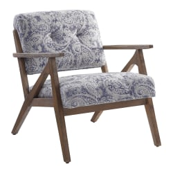 Office Star™ Reuben Arm Chair, Blue Paisley/Brown