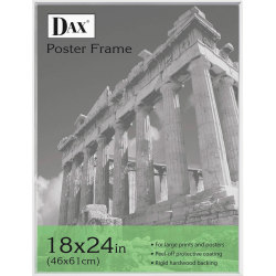 "DAX Clear U-Channel Poster Frames - Holds 18"" x 24"" Insert - Wall Mountable - Vertical, Horizontal - 1 Each - Plastic - Clear"