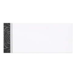 """Great Papers! #10 Coordinating Envelopes, Scrolls, #10, 9 1/2"""" x 4 1/8"""", Black/Silver, Pack Of 50"""