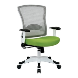Office Star™ Space Seating Mesh Mid-Back Chair, Green/White