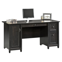 "Sauder® Edge Water 59""W Computer Desk, Estate Black"
